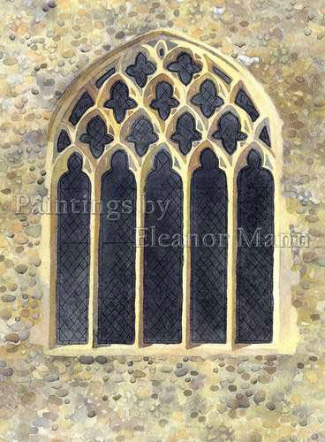 The East Window at Gestingthorpe Church (1) watercolour by Eleanor Mann