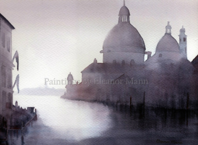 an original watercolour painting of The Grand Canal in Venice by Eleanor Mann for sale
