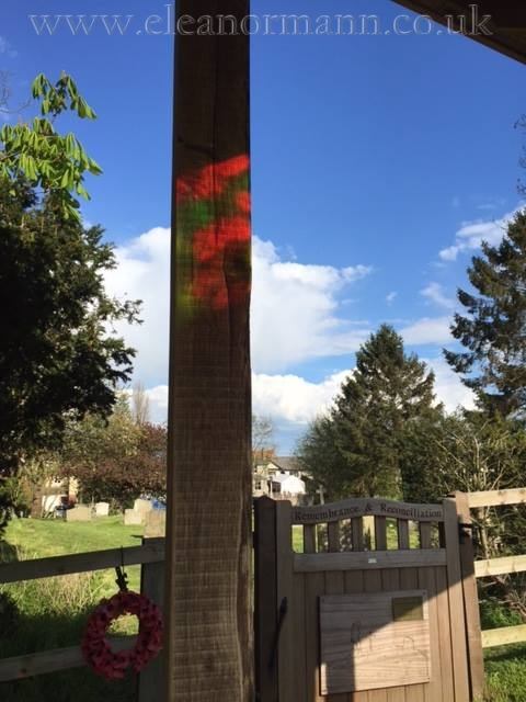 Colne Engaine War Memorial Project stain glass skylight by Eleanor Mann