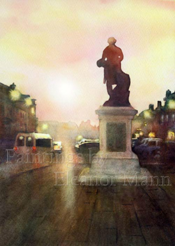 Thomas Gainsborough Statue #2 - watercolour