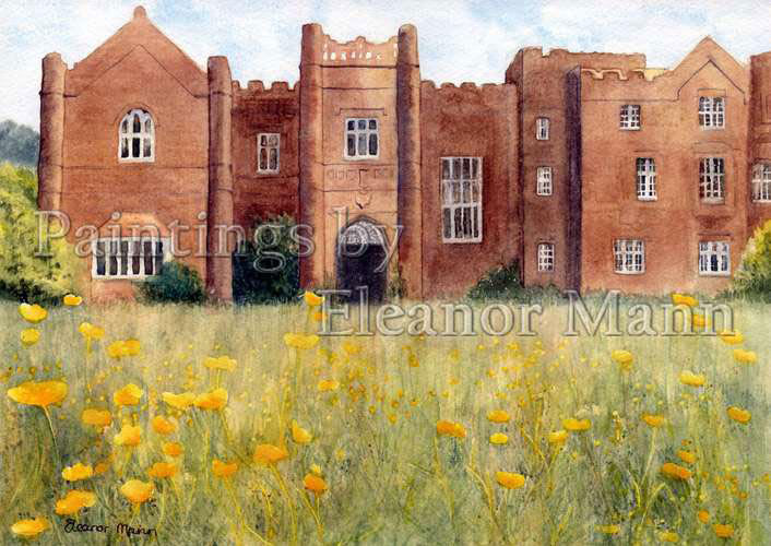 Danbury Palace a watercolour painting by Eleanor Mann