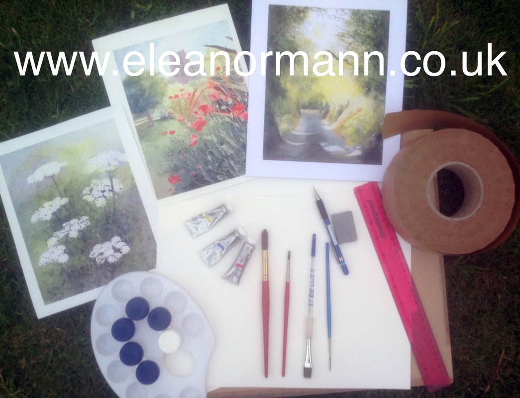 Eleanor Mann's blog post covering the minimum equipment needed to start painting with watercolour.