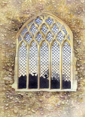 The East Window at the Church in Gestingthorpe, Essex (2) watercolour by Eleanor Mann