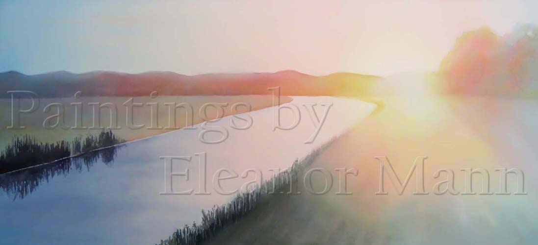 The River - a watercolour painting by Eleanor Mann
