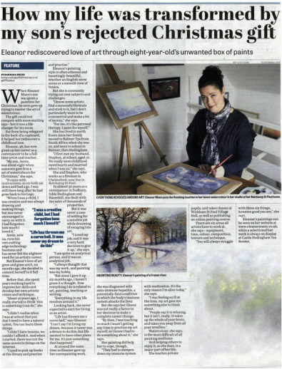 Halstead Gazette article about Suffolk Artist, Eleanor Mann