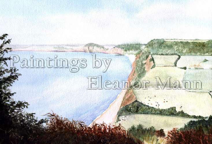 Watercolour painting of Sidmouth in Devon by Eleanor Mann