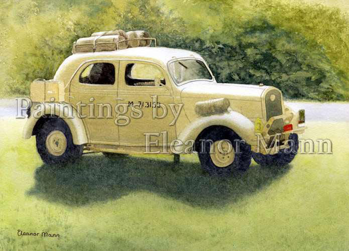 1941 Ford WOA1 Staff Car watercolour painting by Eleanor Mann Prints available