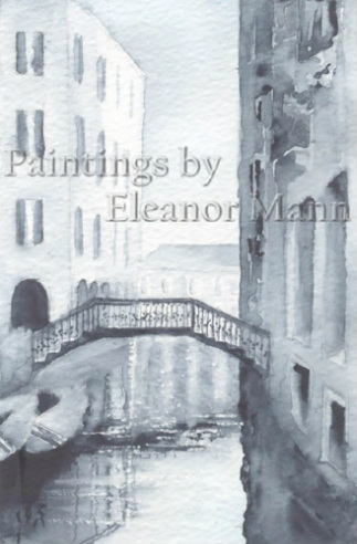 Small canal and bridge, Venice is a watercolour painting by Eleanor Mann